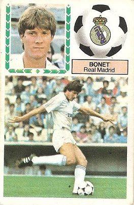 Liga 83-84. Bonet (Real Madrid). Ediciones Este.