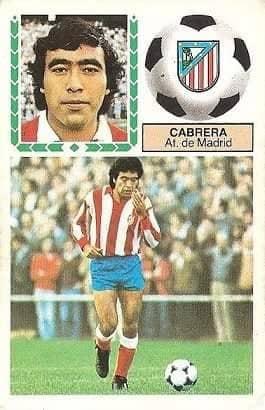 Liga 83-84. Cabrera (Atlético de Madrid). Ediciones Este.