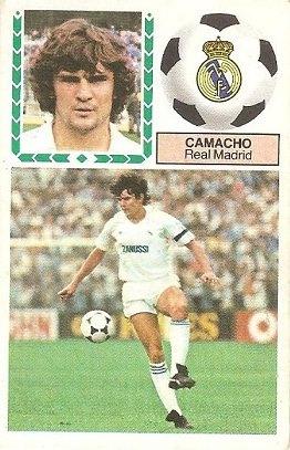 Liga 83-84. Camacho (Real Madrid). Ediciones Este.