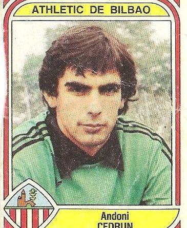 Liga 83-84. Cedrún (Ath. Bilbao). Ediciones Panini.