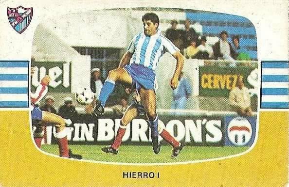 Liga 84-85. Hierro I (C.D. Málaga). Cromos Cano.