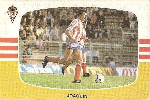 Liga 84-85. Joaquín (Real Sporting de Gijón). Cromos Cano.