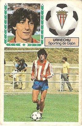 Liga 83-84. Urrechu (Sporting de Gijón). Ediciones Este.