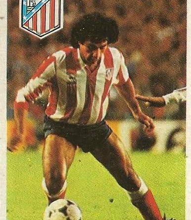 Diego Armando Maradona. Sus driblings. Sus goles. Liga 84-85. Hugo Sánchez (Atlético de Madrid). Cromo Esport.
