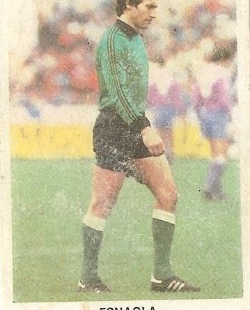 Fútbol 84. Esnaola (Real Betis). Cromos Cano.