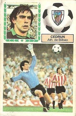 Liga 83-84. Cedrún (Ath. Bilbao). Ediciones Este.