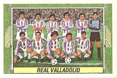 Liga 84-85. Alineación Real Valladolid (Real Valladolid). Ediciones Este.