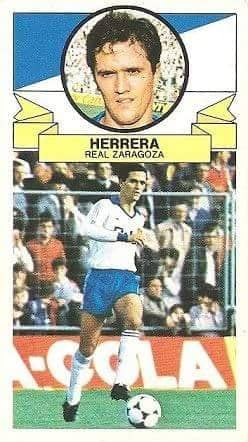 Liga 85-86. Herrera (Real Zaragoza). Ediciones Este.