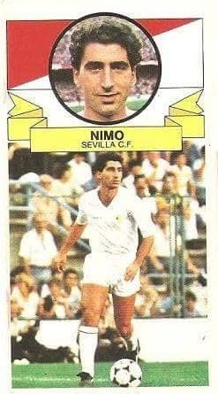 Liga 85-86. Nimo (Sevilla C.F.). Ediciones Este.