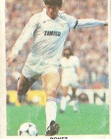Fútbol 84. Bonet (Real Madrid). Cromos Cano.