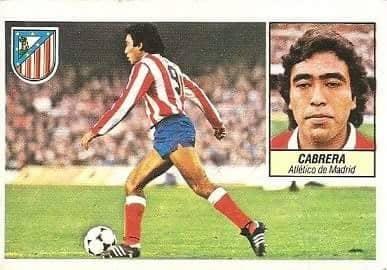 Liga 84-85. Cabrera (Atlético de Madrid). Ediciones Este.