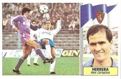 Liga 84-85. Herrera (Real Zaragoza). Cromos Cano.