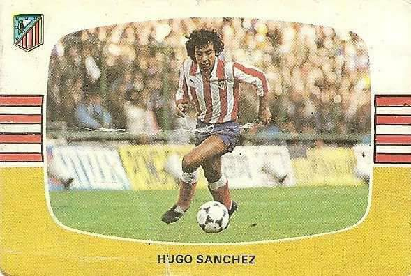 Liga 84-85. Hugo Sánchez (Atlético de Madrid). Cromos Cano.
