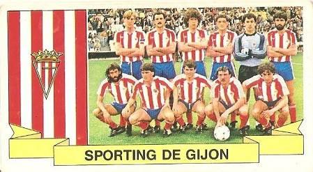 Liga 85-86. Alineación Real Sporting de Gijón (Real Sporting de Gijón). Ediciones Este.