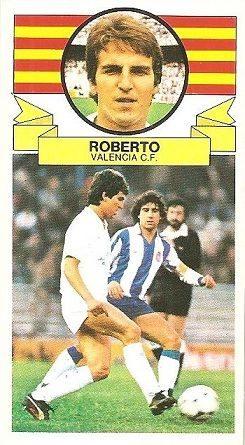 Liga 85-86. Roberto (Valencia C.F.). Ediciones Este.