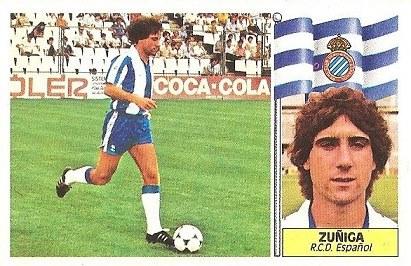 Liga 86-87. Zuñiga (R.C.D. Español). Ediciones Este.