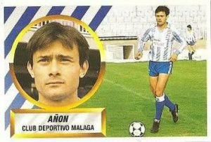 Liga 88-89. Añón (C.D. Málaga). Ediciones Este.