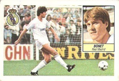 Liga 84-85. Bonet (Real Madrid). Ediciones Este.