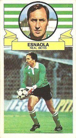 Liga 85-86. Esnaola (Real Betis). Ediciones Este.