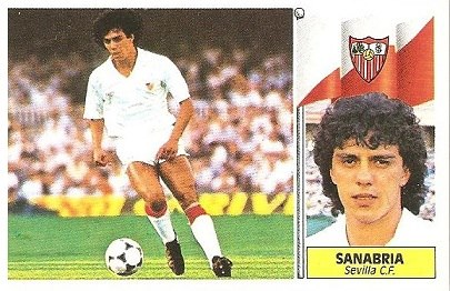 Liga 86-87. Sanabria (Sevilla C.F.). Ediciones Este.