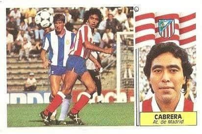 Liga 86-87. Cabrera (Atlético de Madrid). Ediciones Este.