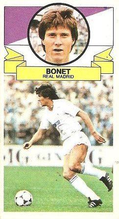 Liga 85-86. Bonet (Real Madrid). Ediciones Este.
