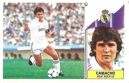 Liga 86-87. Camacho (Real Madrid). Ediciones Este.