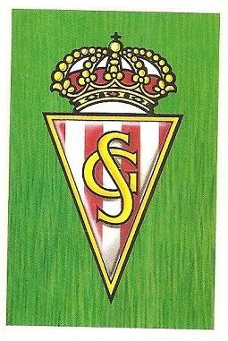 Liga 88-89. Escudo Real Sporting de Gijón (Real Sporting de Gijón). Ediciones Este.