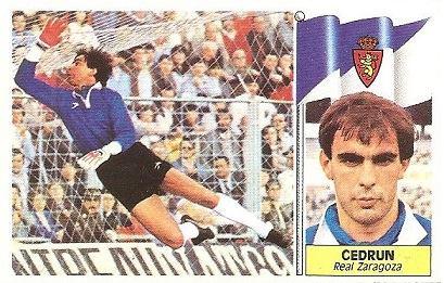 Liga 86-87. Cedrún (Real Zaragoza). Ediciones Este.