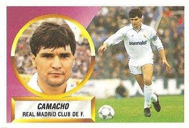 Liga 88-89. Camacho (Real Madrid). Ediciones Este.
