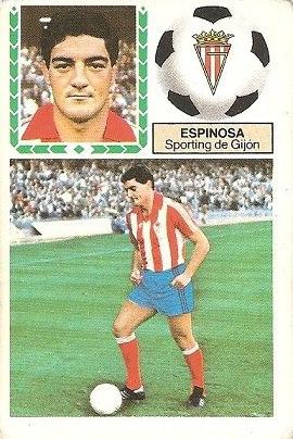 Liga 83-84. Espinosa (Sporting de Gijón). Ediciones Este.