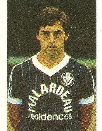 Eurocopa 1984. Giresse (Francia) Editorial Fans Colección.
