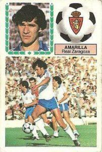 Liga 83-84. Amarilla (Real Zaragoza). Ediciones Este.