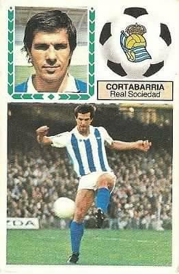 Liga 83-84. Cortabarría (Real Sociedad). Ediciones Este.