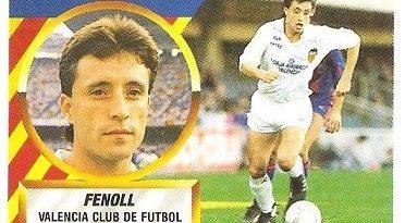 Liga 88-89. Fenoll (Valencia C.F.). Ediciones Este.