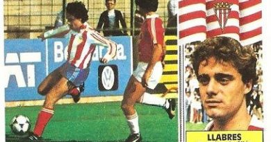 Liga 86-87. Llabres (Sporting de Gijón). Ediciones Este.