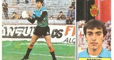 Liga 86-87. Pascual (R.C.D. Mallorca). Ediciones Este.
