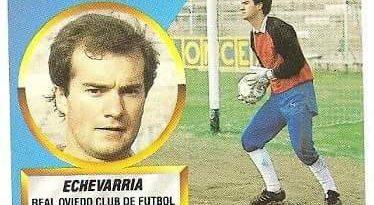Liga 88-89. Fichaje Nº 18 Echevarría (Real Oviedo). Ediciones Este.