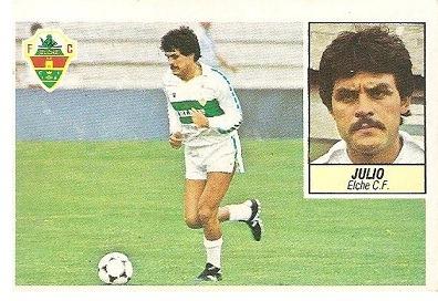 Liga 84-85. Fichaje Nº 16 Julio (Elche C.F.). Ediciones Este.