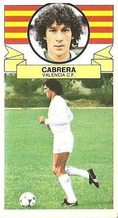 Liga 85-86. Cabrera (Valencia C.F.). Ediciones Este.