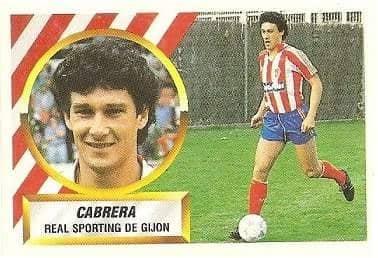 Liga 88-89. Cabrera (Real Sporting de Gijón). Ediciones Este.