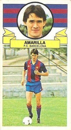 Liga 85-86. Fichaje Nº 1 Amarilla (F.C. Barcelona). Ediciones Este.