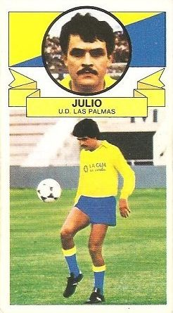 Liga 85-86. Fichaje Nº 25 Julio (U.D. Las Palmas). Ediciones Este.