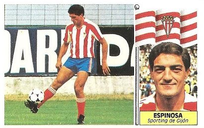 Liga 86-87. Espinosa (Real Sporting de Gijón). Ediciones Este.