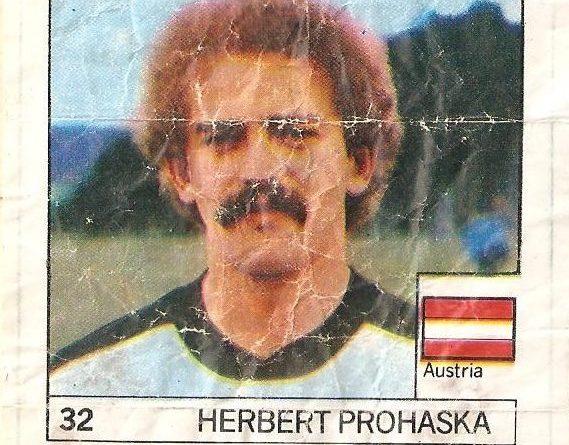 Super Cromos Los Mejores del Mundo (1981). Prohaska (Austria). Chicle Fútbol Boomer.