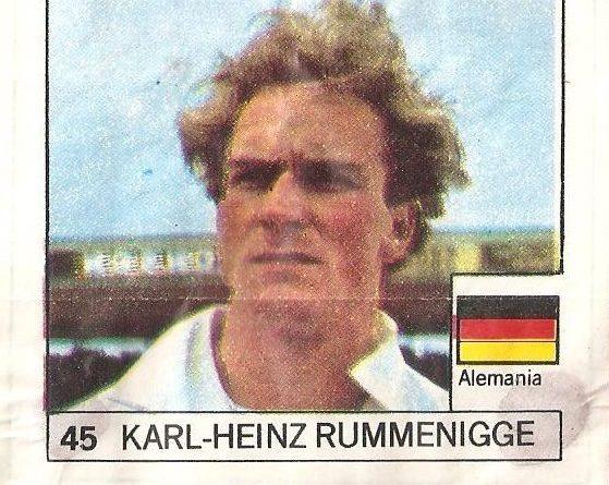 Super Cromos Los Mejores del Mundo (1981). Rummenigge (Alemania). Chicle Fútbol Boomer.
