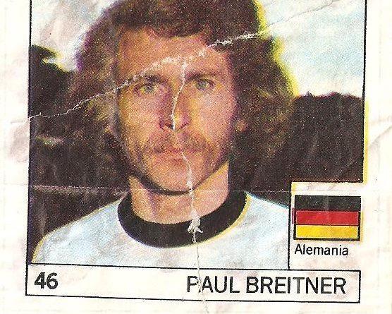 Super Cromos Los Mejores del Mundo (1981). Breitner (Alemania). Chicle Fútbol Boomer.