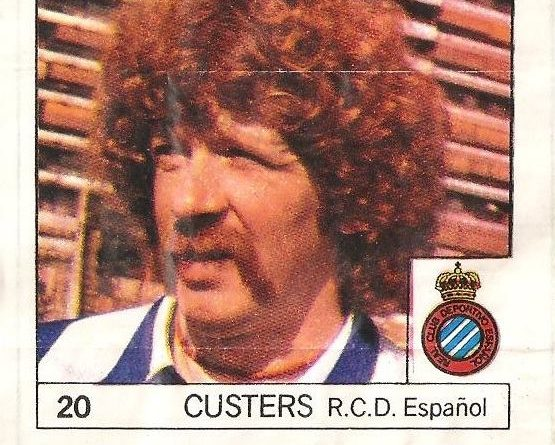 Super Cromos Los Mejores del Mundo. (1981). Custers (R.C.D. Español). Chicle Fútbol Boomer.