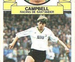 Liga 85-86. Campbell (Racing de Santander). Ediciones Este.