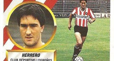 Liga 88-89. Herrero (C.D. Logroñés). Ediciones Este.